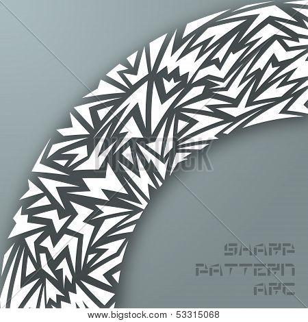 Abstract sharp arc
