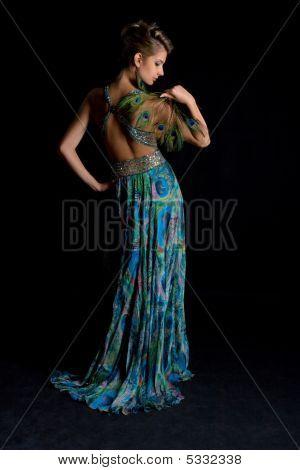 Luxury Peacock Lady