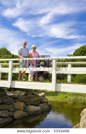 Grandparents On A Bridge