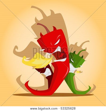 Angry Chili Peppers