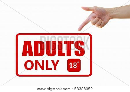 Adult only signage