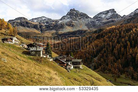 Walser Village (ayas Valley, North Italy)