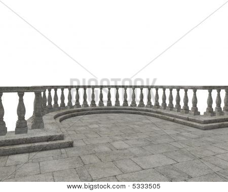 Balcony With Banisters