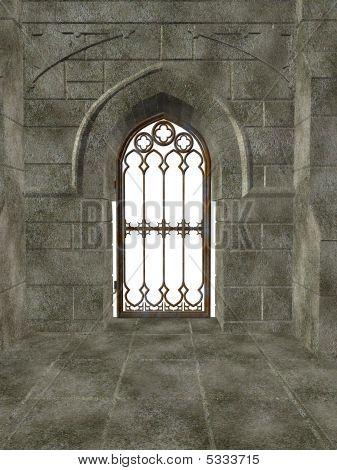 Puerta del metal