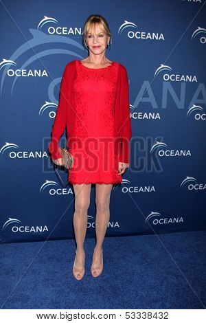 LOS ANGELES - OCT 30:  Melanie Griffith at the Oceana's Partners Awards Gala 2013 at Beverly Wilshire Hotel on October 30, 2013 in Beverly Hills, CA