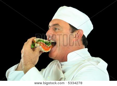 Sandwich Eating Chef