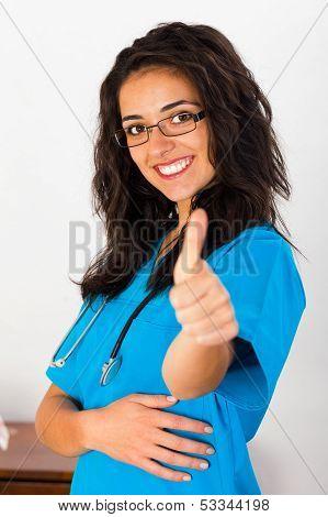 Nurse Thumbs Up