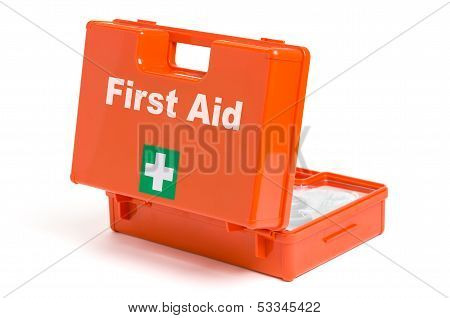 A First Aid Kit on a white background