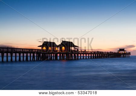 Pier Of Naples At Twilight