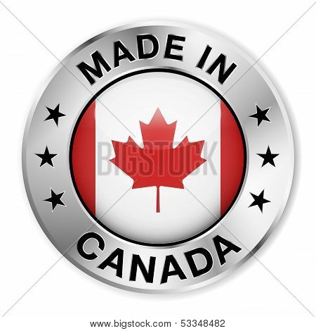 Made In Canada Silver Badge
