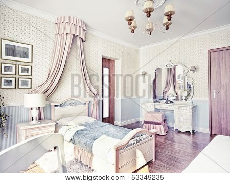 children's luxury room interior 3d image
