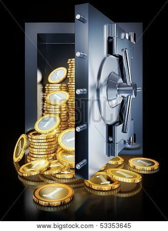 Coins in a vault