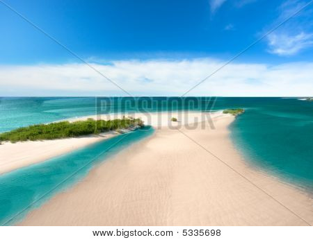 Sand Island In The Sea