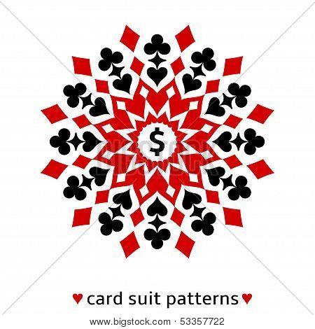 Card suit snowflake ornament