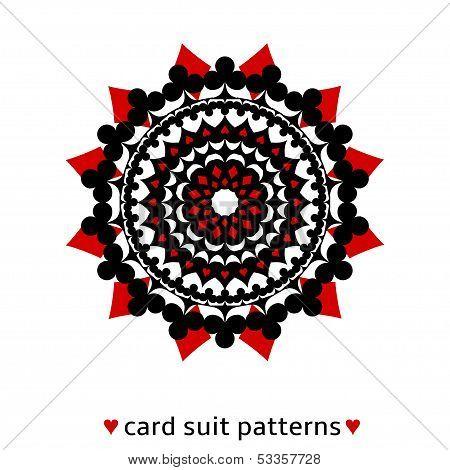 Card suit conceptual ornament