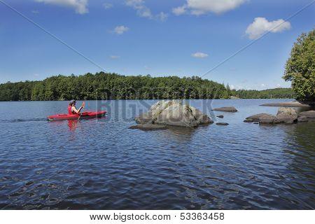 Kayaking On An Ontario Lake