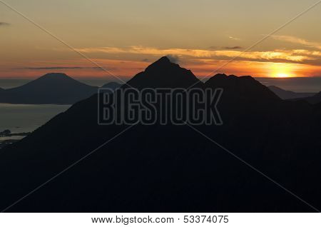 Mountain Peak Silhouette