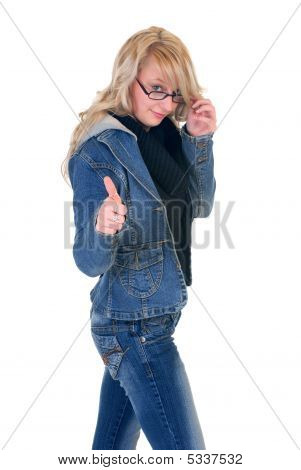 Teenager Student Okay Gesture