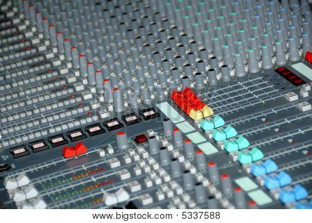 Consola de mezcla de sonido