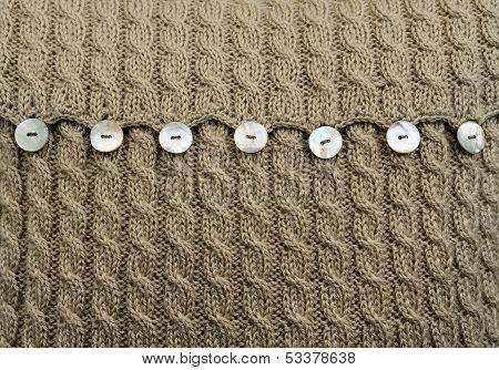 wool cushion detail