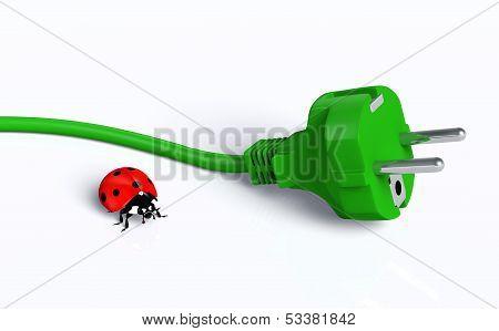 Ecological Plug With Ladybug