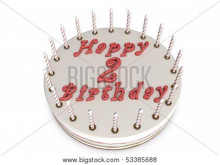 Cream Pie For 2Nd Birthday