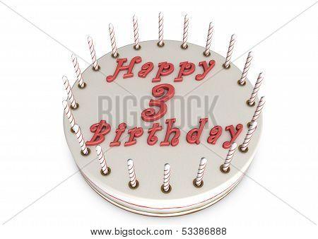 Cream Pie For 3Rd Birthday