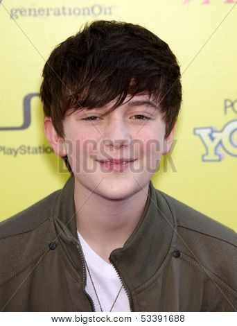 LOS ANGELES - OCT 21:  GREYSON CHANCE arrives to the Variety's Power of Youth  on October 21, 2011 in Hollywood, CA