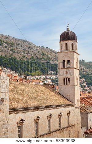 Dubrovnik Croatia Clock Tower And Buildings