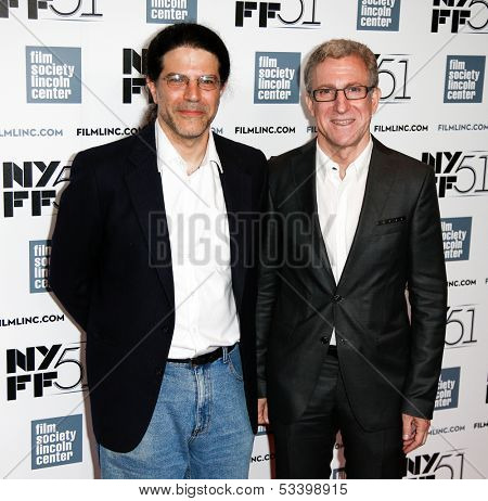 NEW YORK-OCT 1: Mark Levinson (L) and David Kaplan attend 'Jimmy P: Psychotherapy Of A Plains Indian' premiere during New York Film Festival at Alice Tully Hall on October 1, 2013 in New York City.