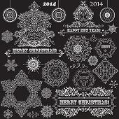 picture of std  - vector vintage Christmas highly detailed design elements - JPG