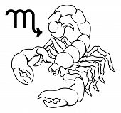 stock photo of scorpio  - Illustration of Scorpio the scorpion zodiac horoscope astrology sign - JPG