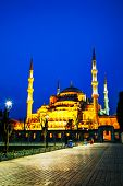 Sultan Ahmed Mosque (blue Mosque) In Istanbul