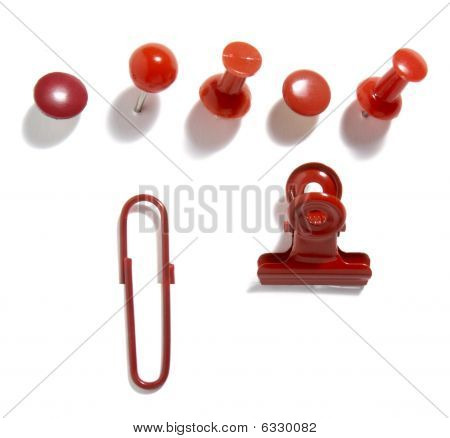 Paper Clips Red Group