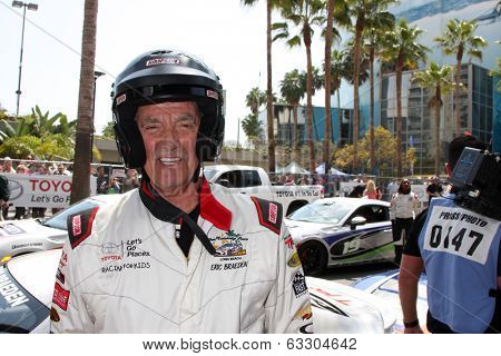 LOS ANGELES - APR 12:  Eric Braeden at the Long Beach Grand Prix Pro/Celeb Race Day at the Long Beach Grand Prix Race Circuit on April 12, 2014 in Long Beach, CA