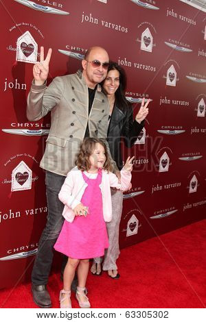 LOS ANGELES - APR 13:  John Varvatos and Family at the John Varvatos 11th Annual Stuart House Benefit at  John Varvatos Boutique on April 13, 2014 in West Hollywood, CA