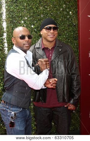 LOS ANGELES - APR 13:  Romany Malco, LL Cool J at the John Varvatos 11th Annual Stuart House Benefit at  John Varvatos Boutique on April 13, 2014 in West Hollywood, CA