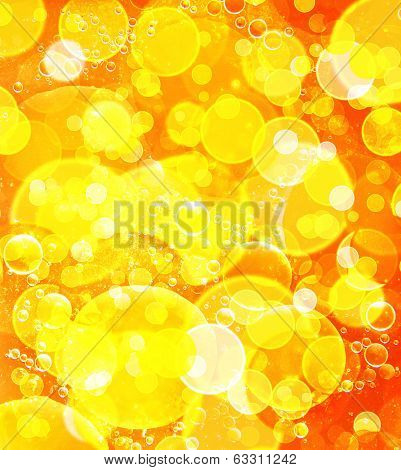 Yellow Bokeh Abstract Background.