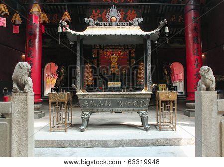 Ling Fung Temple (temple Of Lotus) In Macau