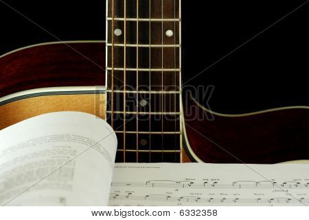 Guitar and Notes Book