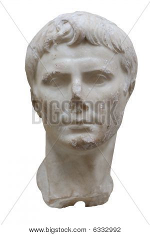 Marmorbüste des römischen Kaisers Augustus