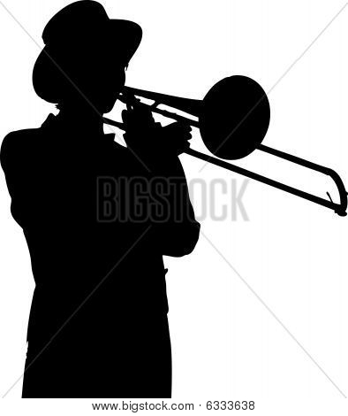 Young lady trombone player