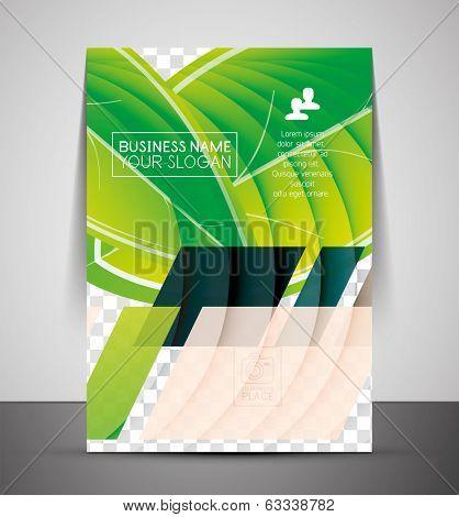 Green design business corporate CMYK A4 print template