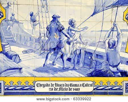 Ceramic paint: Vasco de Gama