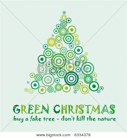 Green Christmas Card
