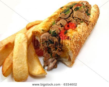 Italian Cheesesteak Sandwich