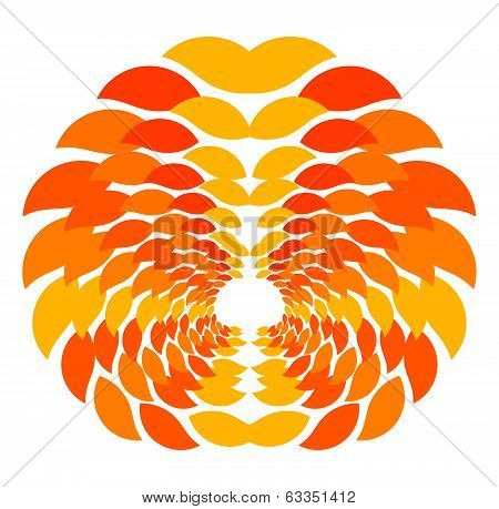 Abstract Autumn Pattern