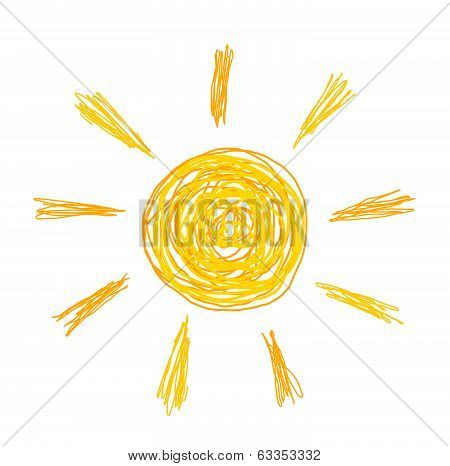 Doodle Sun Illustration