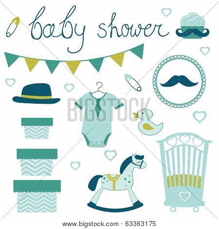 Little man baby shower