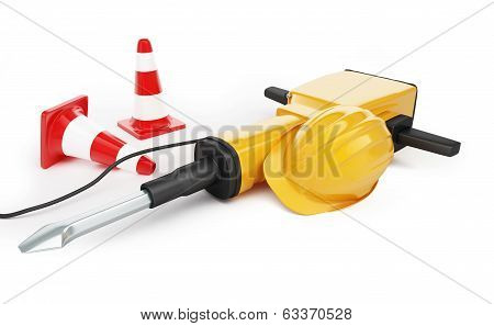 Jackhammer Construction Helmet Traffic Cones ,road Cone